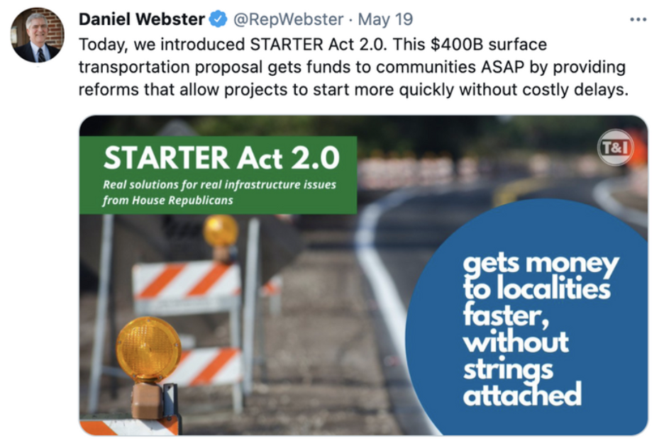 Rep. Webster Supports STARTER Act 2.0
